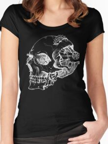 Punk Skull Negative Women's Fitted Scoop T-Shirt