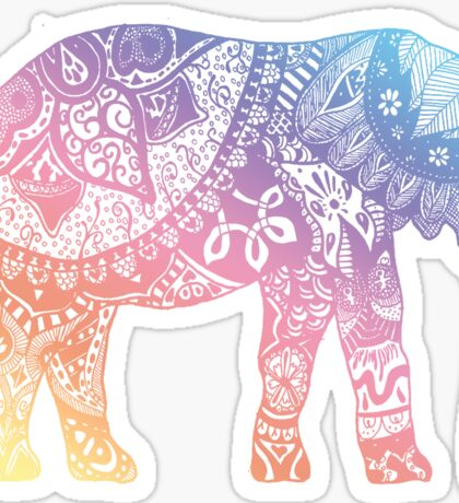 Pastel Elephant Sticker