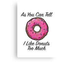 Donut Joke Canvas Print
