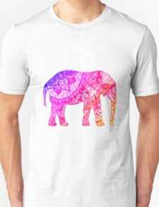 Pink and Orange Elephant Unisex T-Shirt