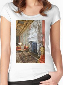 The Saloon at Longleat House, Wiltshire, United Kingdom. Women's Fitted Scoop T-Shirt