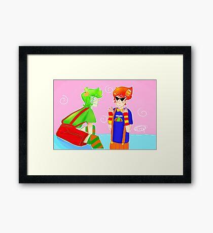 Trickster Dirk and Jake Framed Print