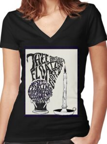 Thee oh Sees-floating coffin poster! Women's Fitted V-Neck T-Shirt