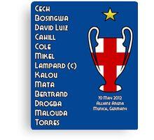 Chelsea 2012 Champions League Winners Canvas Print