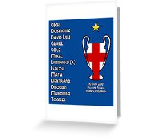 Chelsea 2012 Champions League Winners Greeting Card