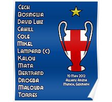 Chelsea 2012 Champions League Winners Poster
