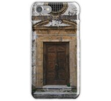 Marzamemi, Sicily. Church Door iPhone Case/Skin