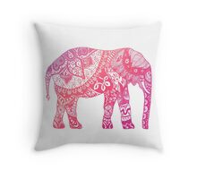 Light Pink Elephant Throw Pillow