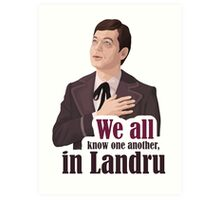 We all know one another, in Landru.  Art Print