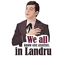 We all know one another, in Landru.  Photographic Print