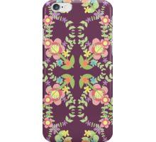 Folk Flower - Porffor iPhone Case/Skin