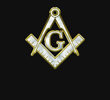 Freemason Gold Bling Logo Square Compass Classic T-Shirt