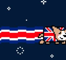 Union Jack Corgi Sticker
