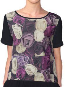 Purple Roses  Chiffon Top