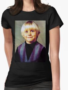 Young Kurt Cobain Womens Fitted T-Shirt