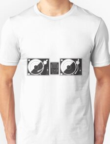 Black and White Turntables Unisex T-Shirt