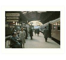 Copenhagen Railway Station 19610415 0109  Art Print