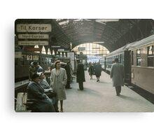 Copenhagen Railway Station 19610415 0109  Metal Print