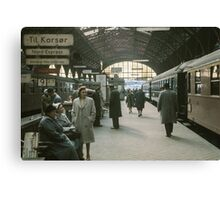 Copenhagen Railway Station 19610415 0109  Canvas Print