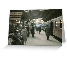 Copenhagen Railway Station 19610415 0109  Greeting Card