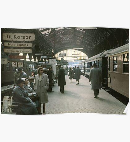 Copenhagen Railway Station 19610415 0109  Poster