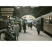 Copenhagen Railway Station 19610415 0109  Photographic Print