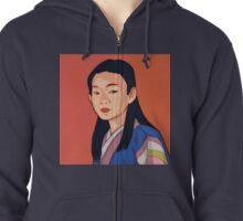 Side-look Zipped Hoodie