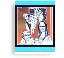 modern mona lisa - at the bar Canvas Print