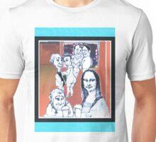 modern mona lisa - at the bar Unisex T-Shirt