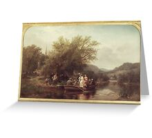 Albert Fitch Bellows (American, ). Life's Day or Three Times Across the River, Noon (The Wedding Party),  Greeting Card