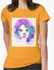 Space girl (blue) Womens Fitted T-Shirt