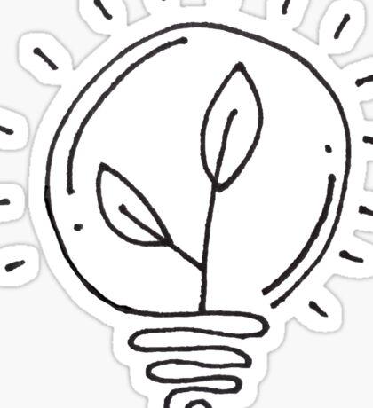 Plant Lightbulb Sticker
