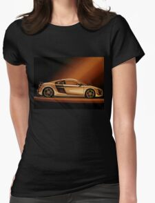 Audi R8 Painting Womens Fitted T-Shirt