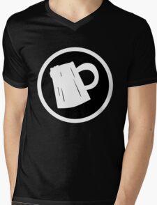 Cider Party Flat Logo Mens V-Neck T-Shirt