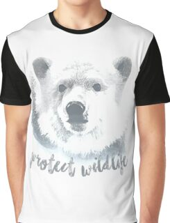 Protect Wildlife-Polar Bears Graphic T-Shirt