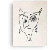 "The Mini Monster Illustrations - ""Ialtóg"" Canvas Print"