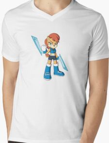 Sally Acorn Mens V-Neck T-Shirt