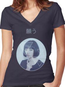 Spazzkid- Desire  Women's Fitted V-Neck T-Shirt