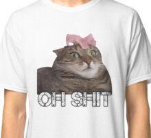 Oh Shit Cat Classic T-Shirt