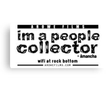 People Collector - Black (WFARB) Canvas Print