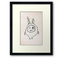 """The Mini Monster Illustrations - """"Shmoopi"""" Framed Print"""