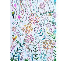 scribble garden party Photographic Print