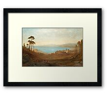 Alfred Walter Williams England  Attributed to Italian landscape with ruins Framed Print