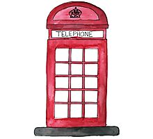 Telephone Booth Photographic Print