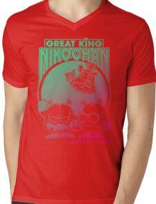 Nikochan Mens V-Neck T-Shirt