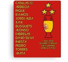 Spain 2012 Euro Winners Canvas Print