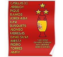 Spain 2012 Euro Winners Poster