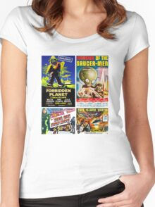 Sci-fi Movie Poster Collection #4 Women's Fitted Scoop T-Shirt