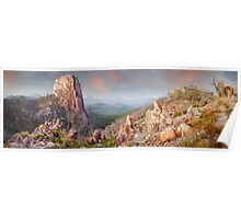 Crator Bluff, Warrumbungles National Park, New South Wales, Australia Poster