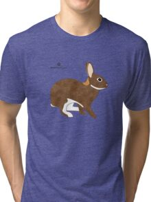 Chestnut Agouti Rabbit Tri-blend T-Shirt